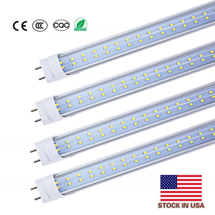 США STOCK 4ft 1.2м 1200мм T8 t10 t12 водить пробки Свет высокого супер яркий 22W 28W светодиодные люминесцентные лампы лампы лампы AC85-277V