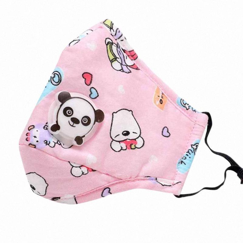 5Pcs Respirator Face Maskking For Germ Protection 10Pcs Filters Cotton Face Maks Reusable Kids Cartoon Print Mascarillas Bandana W8dW#