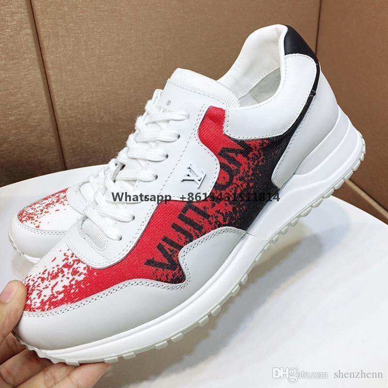 Yeni Erkek Ayakkabı Moda Sneakers Dantel -Up Konfor Scarpe Da Uomo Lüks Erkek Ayakkabı Moda Run Away Sneaker Chaussures Hommes Dantel -Up Lu dökün