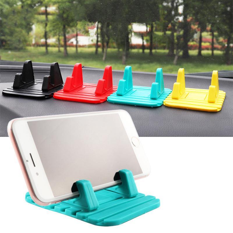 Car Phone Holder Non-slip Mat Rubber Mobile Phone Stand Bracket GPS Holder