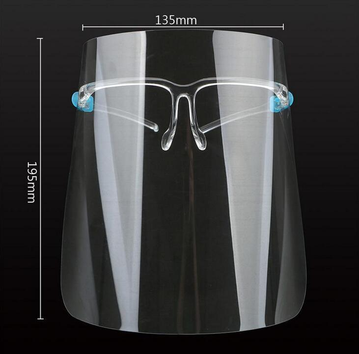Gözlükler Şeffaf Anti Sıvıları Yüz Shield Anti Toz Splash Ağız Yüz Temizle Koruyucu Maske fy8038 WIth ABD Stok Koruyucu Tam Yüz Maskesi
