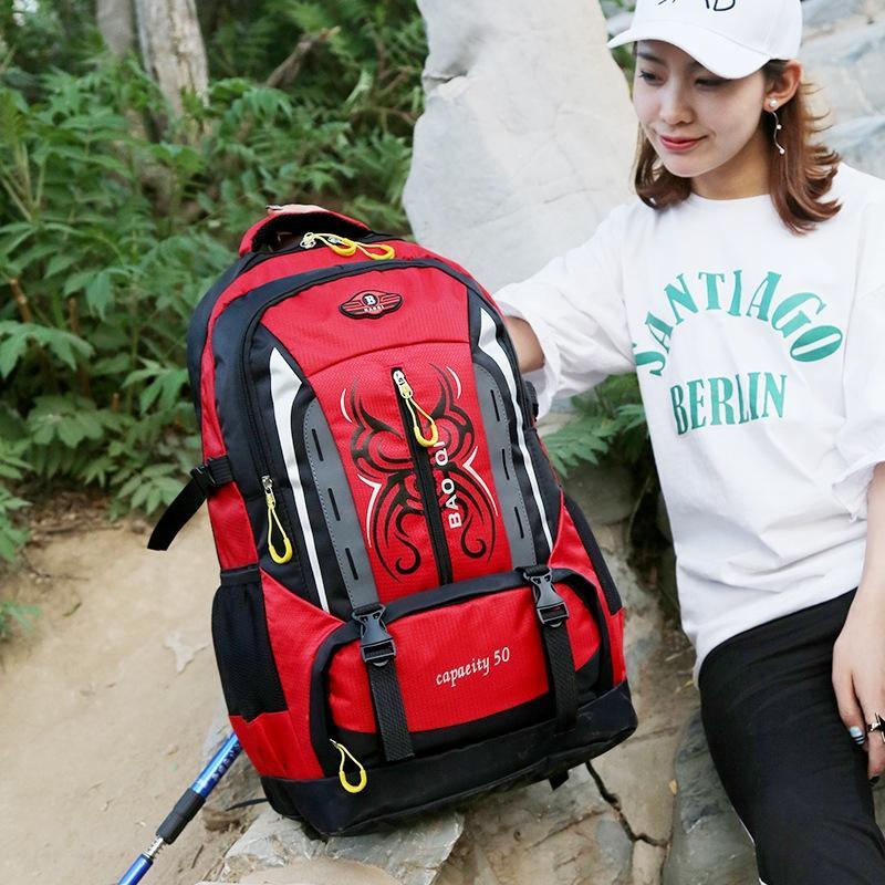 Large 50L capacity outdoor hiking backpack travel bag Backpack travel bag