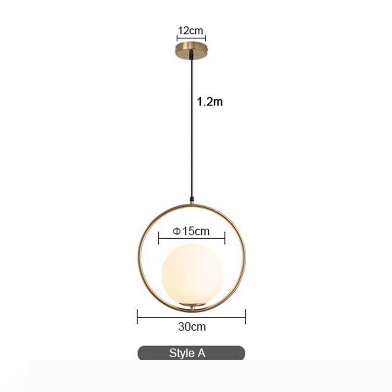 Nordic Современные Свет стеклянного шарика Подвеска лампы Industriel лампы Светильник Luster Luxury Cafe Hotel Home Deco Art Висячие Light