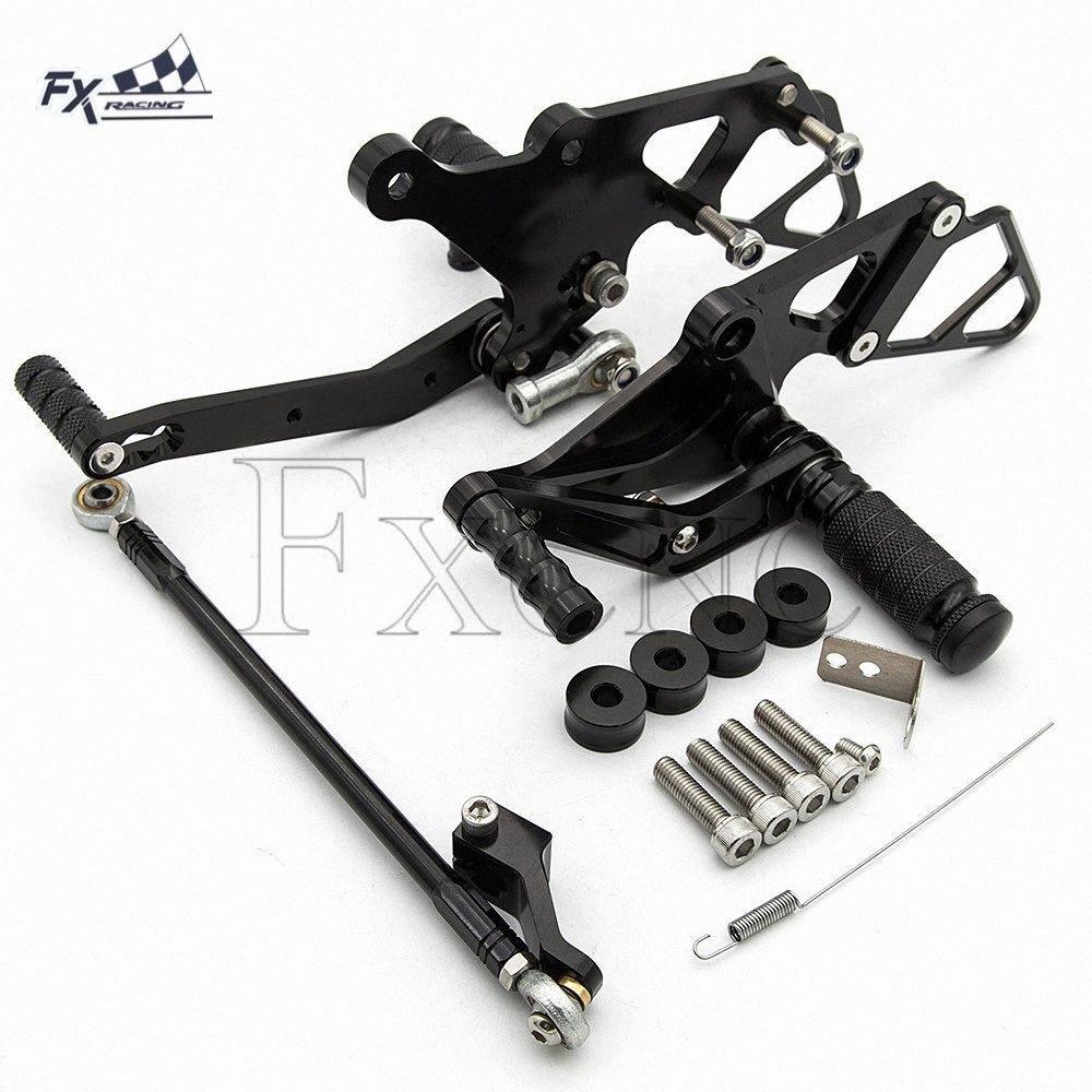 CNC motocicleta Pé Peg Resto Footpegs Pedal rearset Footrest Rear Set Para MT07 MT 07 MT07 2013-2017 XSR700 2015-2018 tsZ7 #