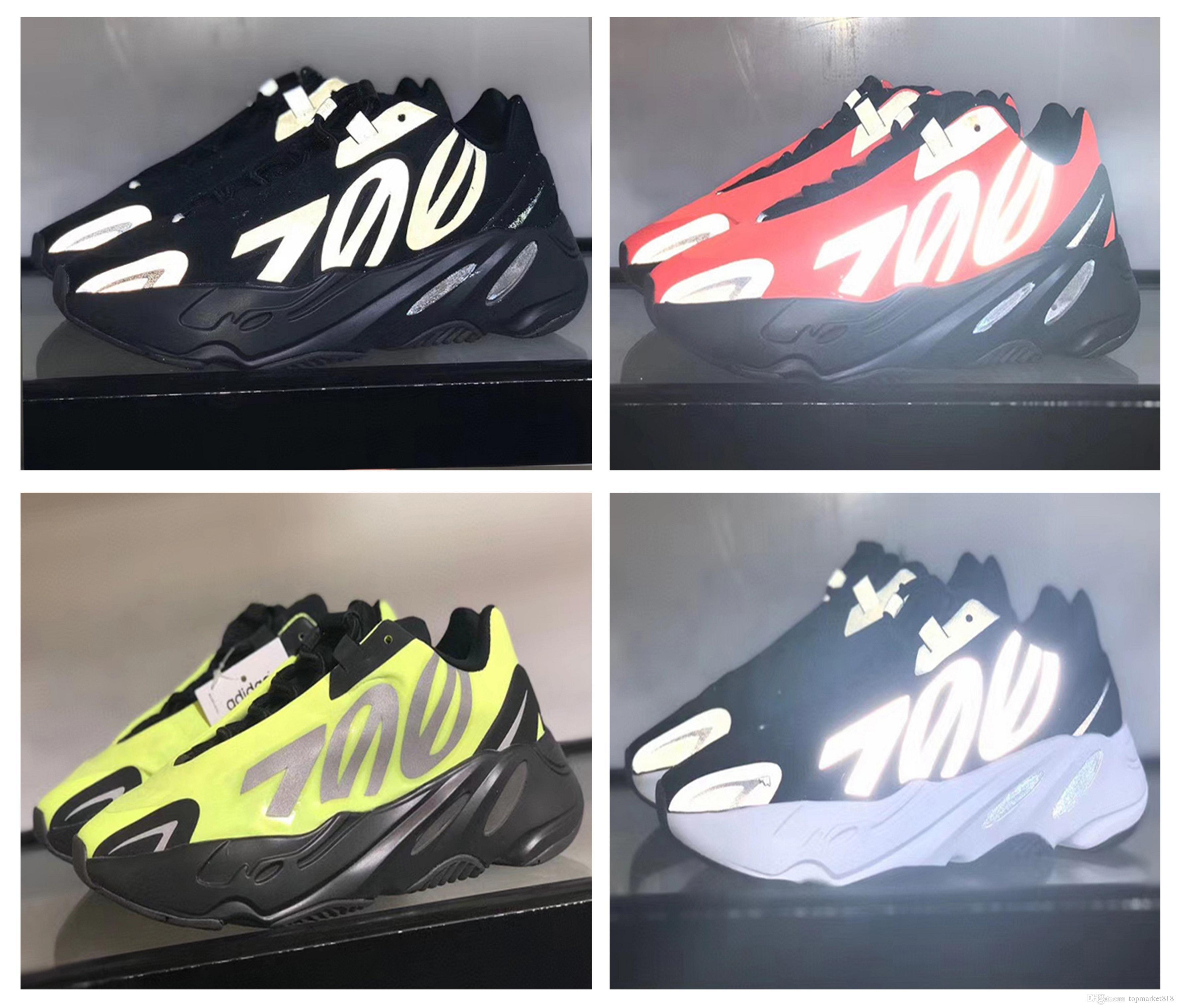 2020 Yeni Geliş 700 V2 MNVN Statik Mauve marka moda lüks tasarımcı erkek kadın eğitici Spor ayakkabılar boyutu çalıştıran Açık 36 ~ 46