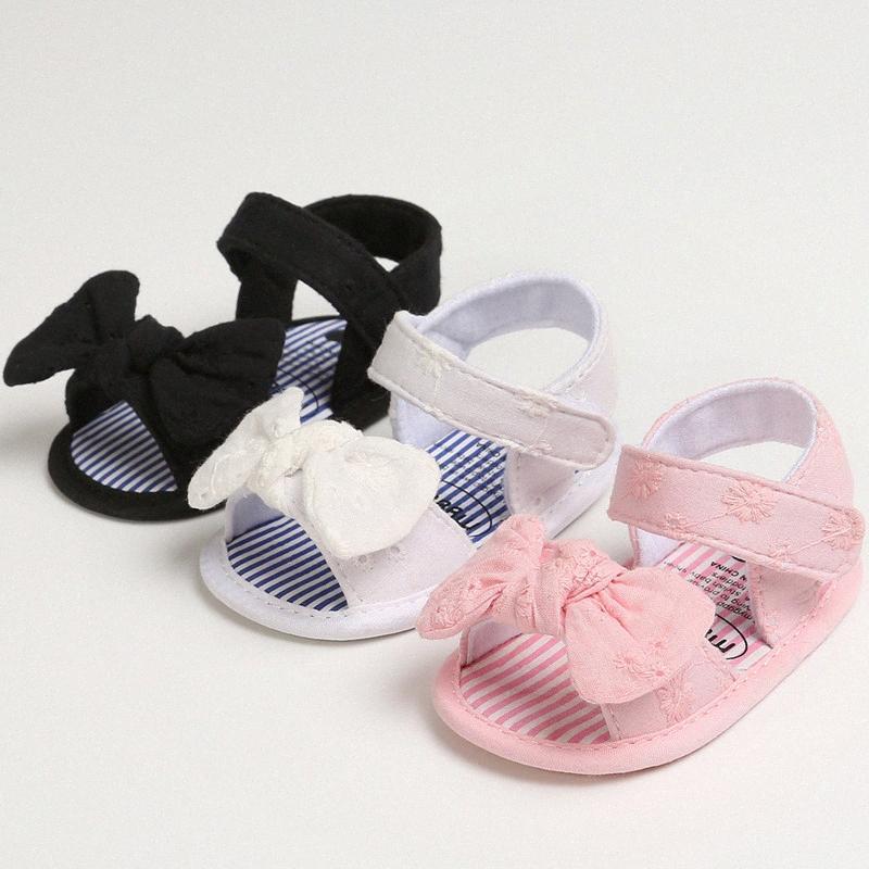 Baby Cute Shoes Toddler Floral Bow Sandals 3 Colors Soft Sole Prewalker Shoes US