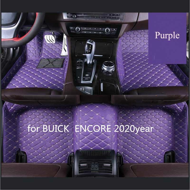 Maßgeschneiderte Auto Bodenmatte wasserdicht PU-Leder Material, geeignet für BUICK ENCORE 2020 Jahre