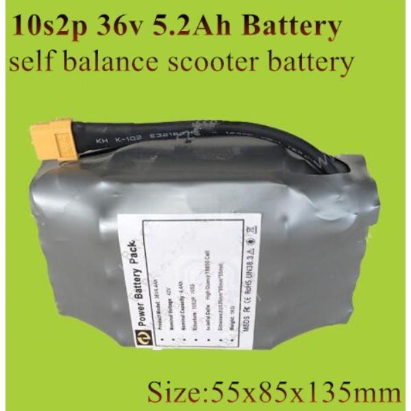 36v лития 5200mAh литий-ионная аккумуляторная батарея 5.2Ah 10s2p XT60 разъем 4.4Ah Repalce самостоятельно баланс самокат доска