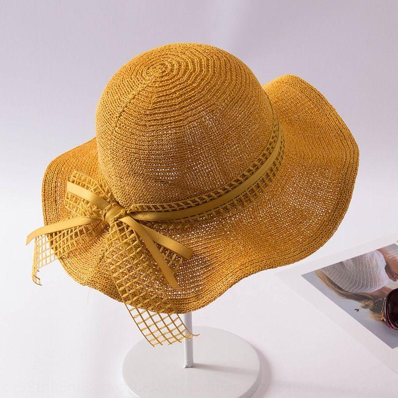 UV-proof Sonne Reise Urlaub am Meer große Traufe weiblicher Fischer Sommer Stroh Strohhut Allgleiches britischen Fischer Hut