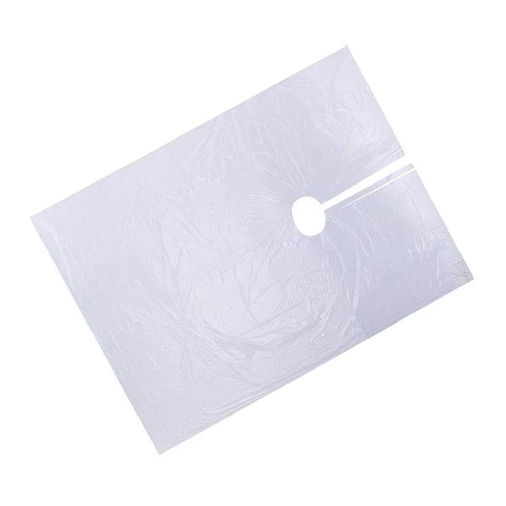 Descartável cabeleireiro Xaile Perm Cabelo Pintado de Cape vestido Hair Coloring Capes lenço transparente impermeável 90x135cm membrana pano