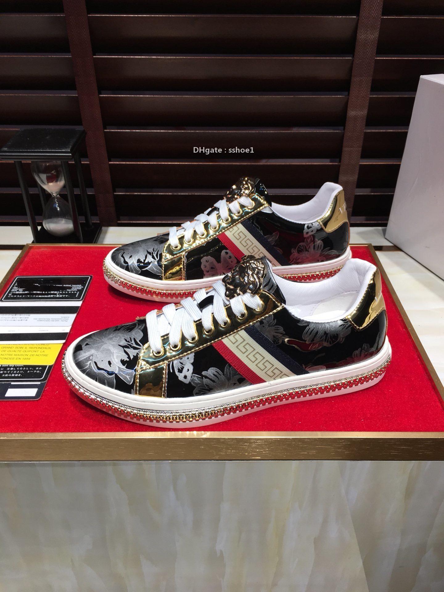 2021-2020 Nuovo cuoio genuino degli uomini '; Scarpe sportive S Large Size di modo selvaggio Lace-Up scarpe da tennis bassa -Top comode scarpe traspiranti Tide
