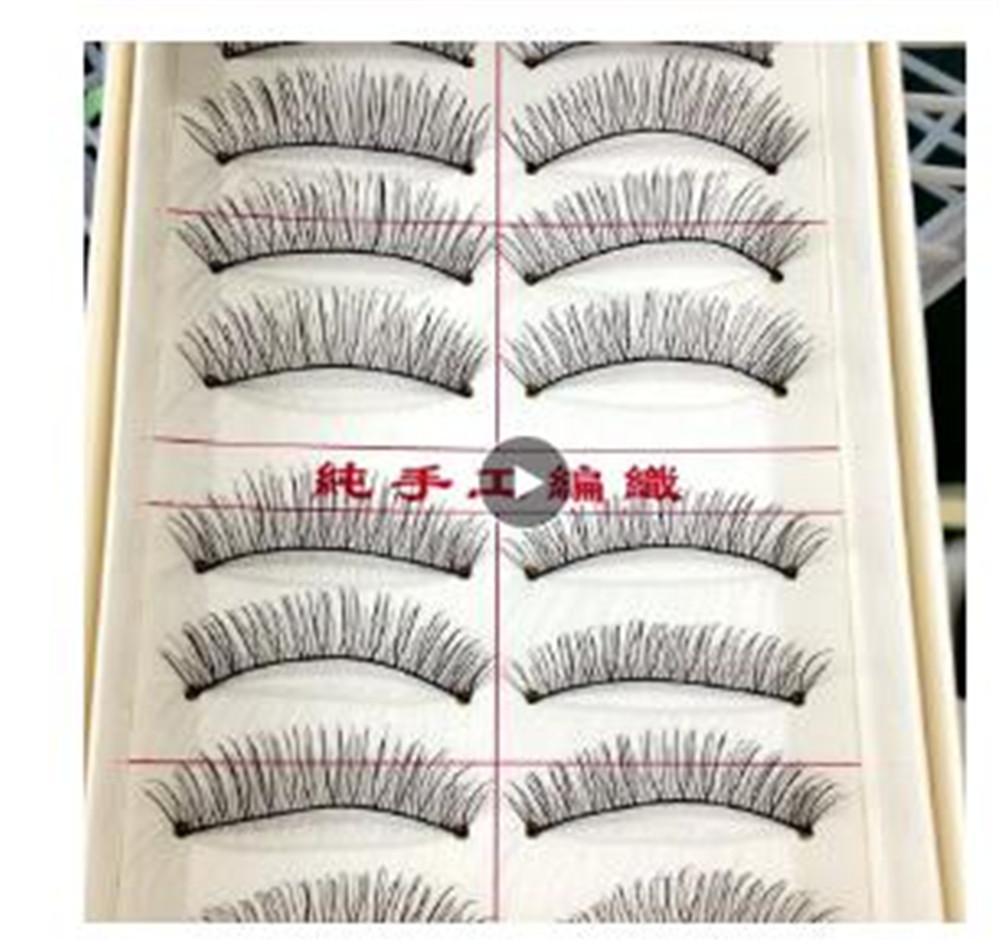 10 paires naturel Cils Maquillage Lashes main Faux Cils Wispy Eye Extension faux cils Cils Livraison gratuite