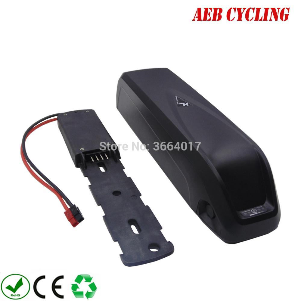 Alto poder de iões de lítio Hailong tubo inferior 48V 12.8Ah bateria recarregável bicicleta elétrica para bicicleta de pneu de gordura com carregador