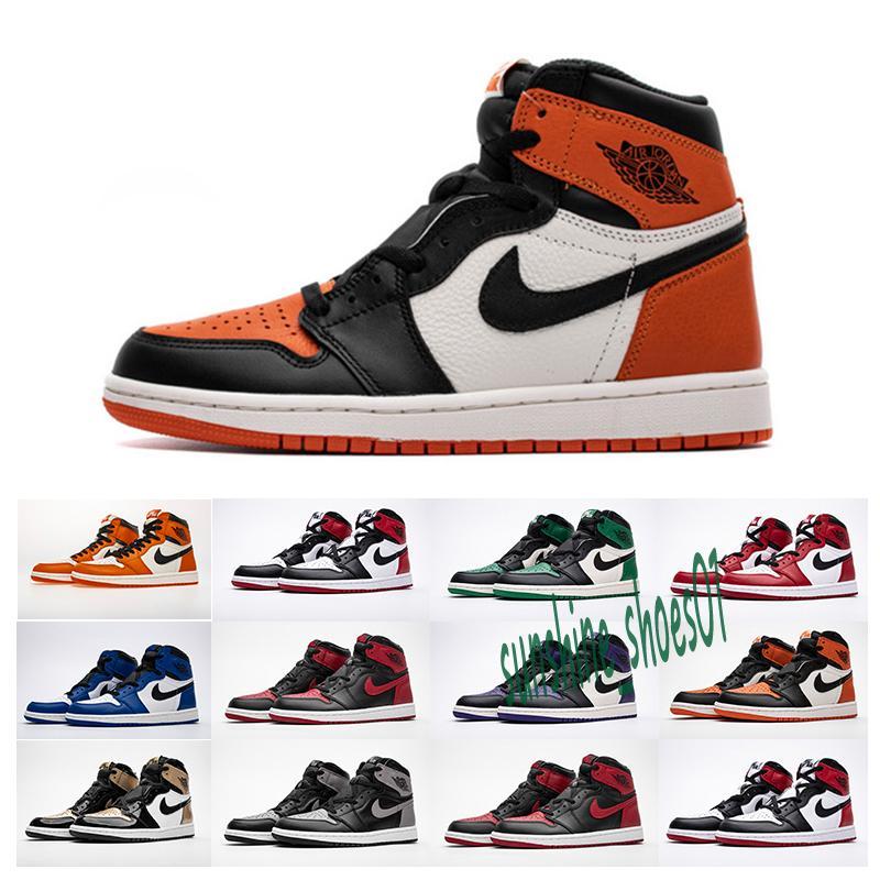 Nike Air Jordan 1 AJ1 Retro de basket Banned Toit Ombre d'or de qualité supérieure Designers Hommes Athlétisme Formateurs Chaussures de sport 40-47 __gVirt_NP_NN_NNPS<__ U15