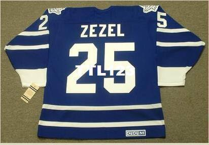 Mens # 25 Питер Зезель Торонто Мэйпл Лифс 1993 CCM Vintage хоккей Джерси или заказ любое имя или номер ретро-Джерси