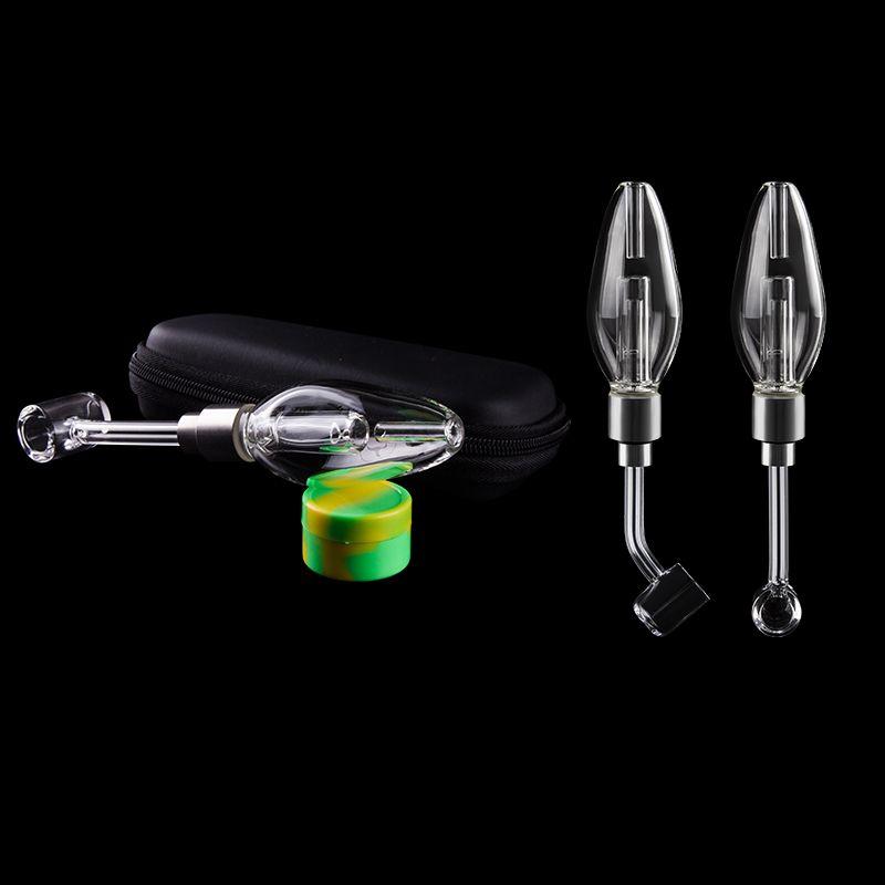 Mini 510 Honey Straw Glass Pipe Bubbler With 510 Quartz Banger Nail for Dab Rig Oil Rig Glass Bongs Ash Catcher