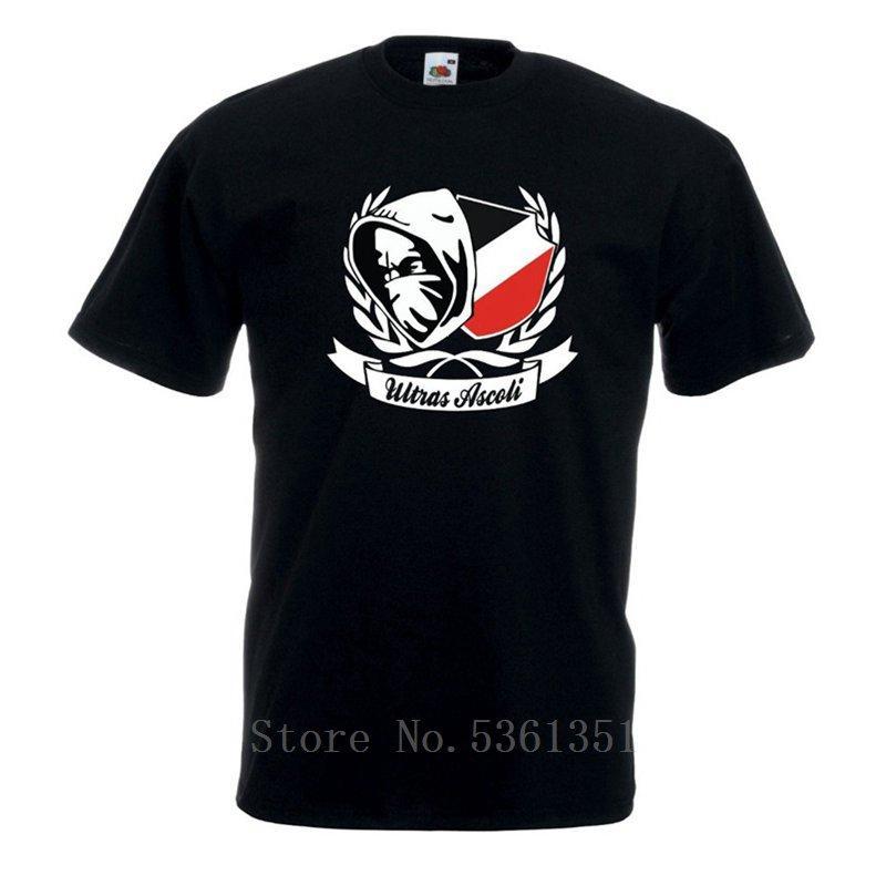 2019 Calidad Alta Nueva Camiseta Camiseta Maglietta Ultras Ascoli Terraza Crew verano del algodón de la camiseta
