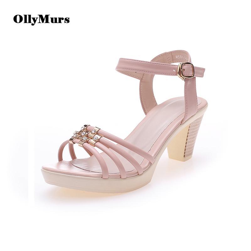 Sandalen für Damen 2020 Sommer-Frauen-Schuh-Mode öffnet spitze Zehe Plus Size Kristalldekoration High Heel Elegante Femmes Sandalen