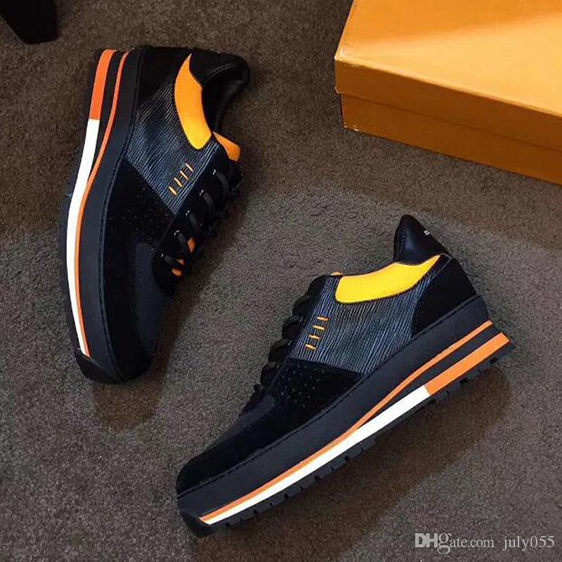 Üst Kalite 2020 ancien Yeni Erkekler Sneaker erkekler Günlük Ayakkabılar Eğitmenler Deri Platformu Düz ayakkabı Spor l6