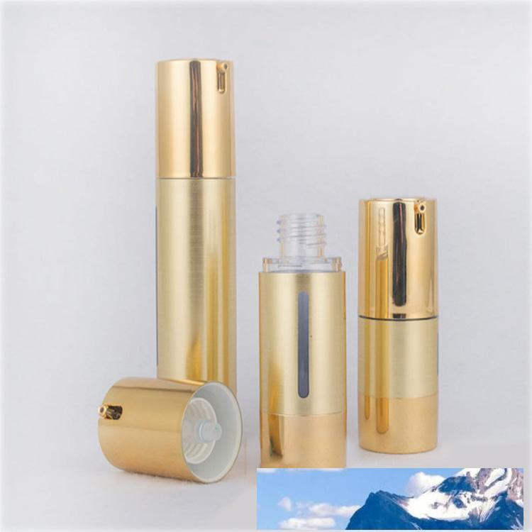 15ml / 30ml / 50ml silbrig / Gold Leer Airless Pumpe Flaschen Tragbare Mini-Vakuum-kosmetische Lotion Behandlung Pump Travel Flasche