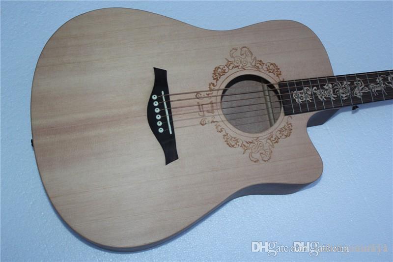 """Yeni Çin Zodyak 41"""" Gitar Hatıra Ses, Model At, Çin Zodyak Klavye Kakma, Kişiselleştirilmiş Teklif"""