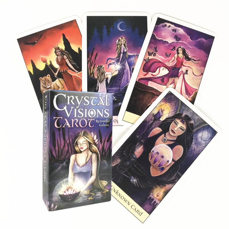 Tarot Cards English Version Crystal Vision Tarot Deck Board Games Party For Adult Children Playing Card Entertainment Table Game