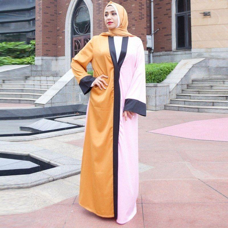 Caftan Abaya Dubai Robe Cardigan musulmane Hijab Robe Qatar Emirats arabes unis Oman Caftan Marocain abayas pour les femmes turque islamique Vêtements ht9W #