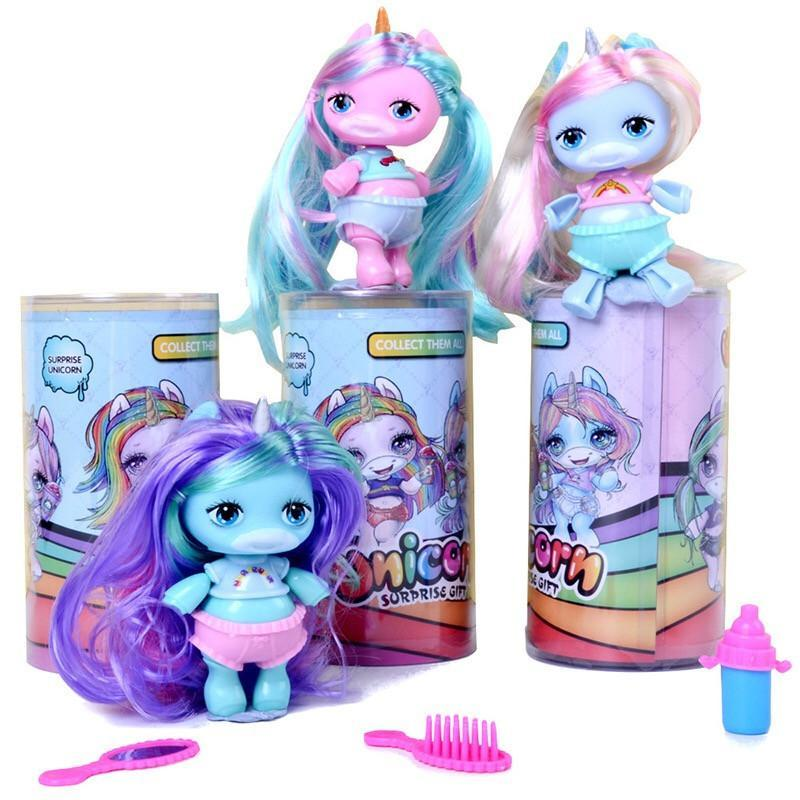 Fashion New Arrivals Surprise Doll Cute Unicorn Blind Box Toys Coloful Unicorn Action Figures Collection Decoration Toys Best Gift For Gril