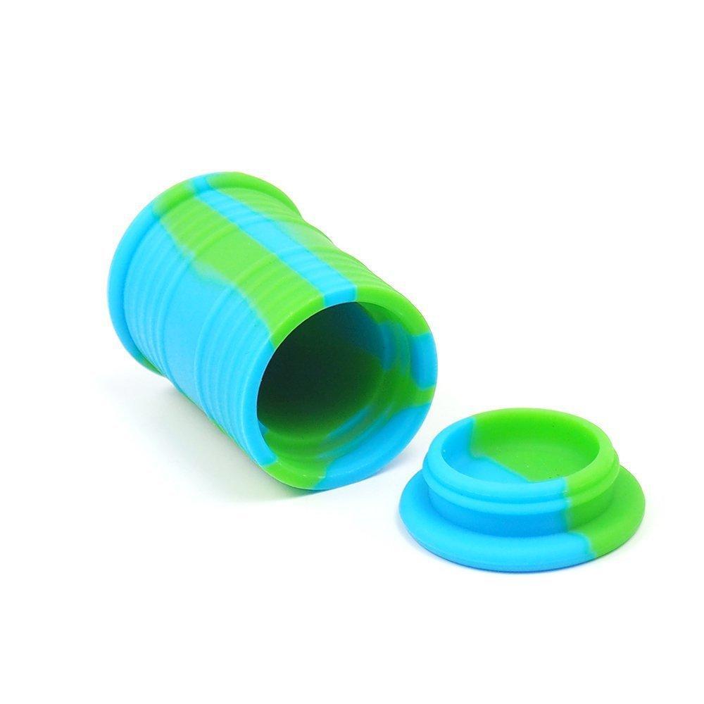 barril de petróleo frascos contenedores DAB goma de aceite de cera vaporizador tambor forma del recipiente 11 ml de herramientas caja de hierba de silicio seco grande de la categoría alimenticia de silicona