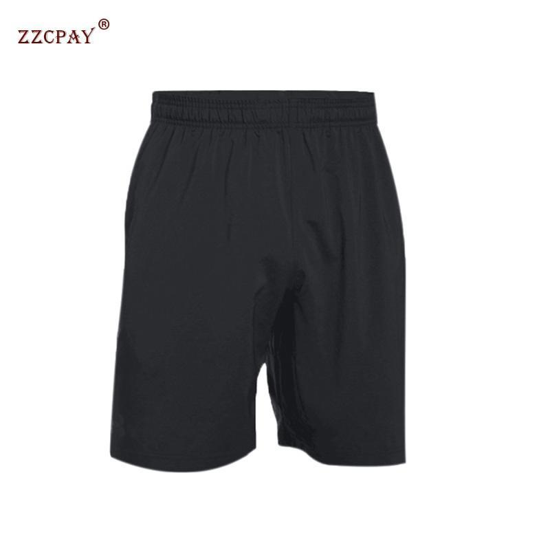 masculina de basquete short de corrida calças de secagem rápida fitness Suor respirável formação Pants de cinco pontos-Casual com bolsos