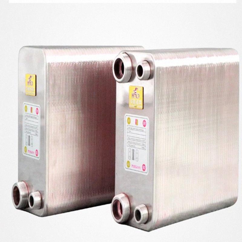 38 Placas soldadas trocador de calor Beer Wort Chiller Refrigerador Início Brewing Beer soldadas placa de tipo aquecedor de água SUS304 2ttf #