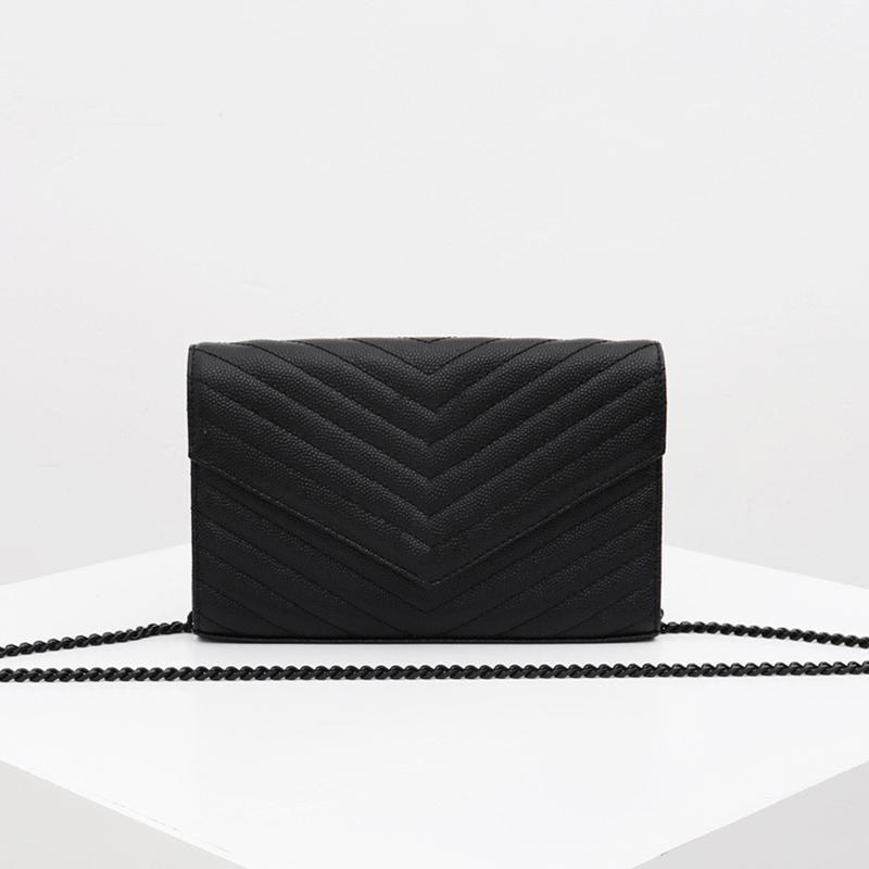 Classic Shape V caviale borse borse catena donne borsa della busta singola Soulder borse crossbody monogramma messenger bag Portafoglio donna