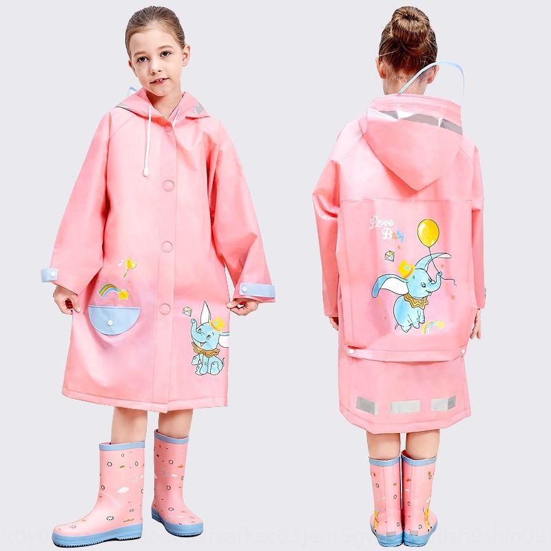 jr5Gb 9NvKc niñas impermeable bebé capa capa 'de los niños de los niños chicos poncho impermeable' gran jardín de infantes de la escuela primaria rainco estudiantes