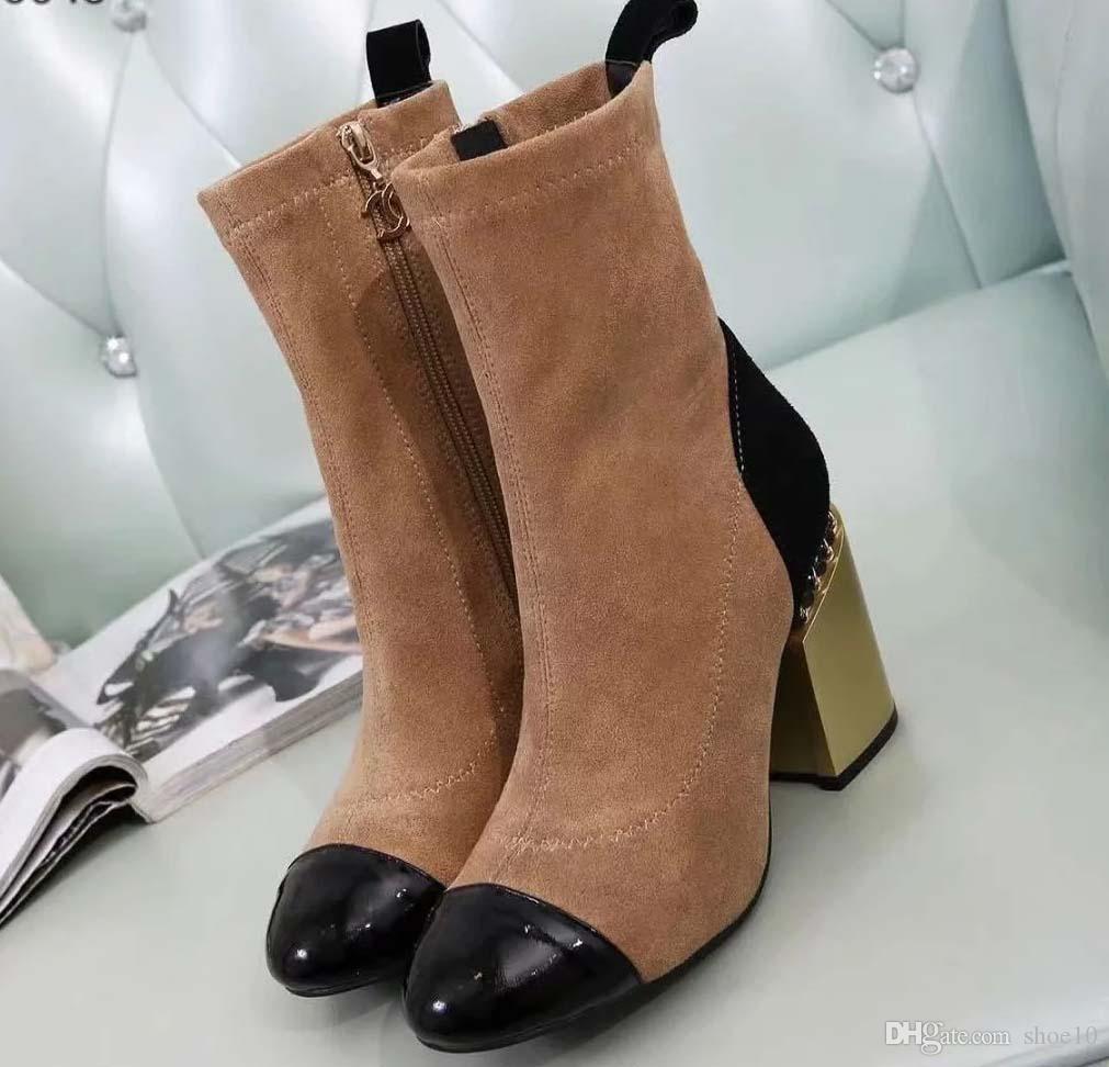 sapatos de couro da mulher ata acima da fita cinto de fivela ankle boots fábrica feminino calcanhar áspero cabeça redonda inverno direta outono Martin Botas ch73