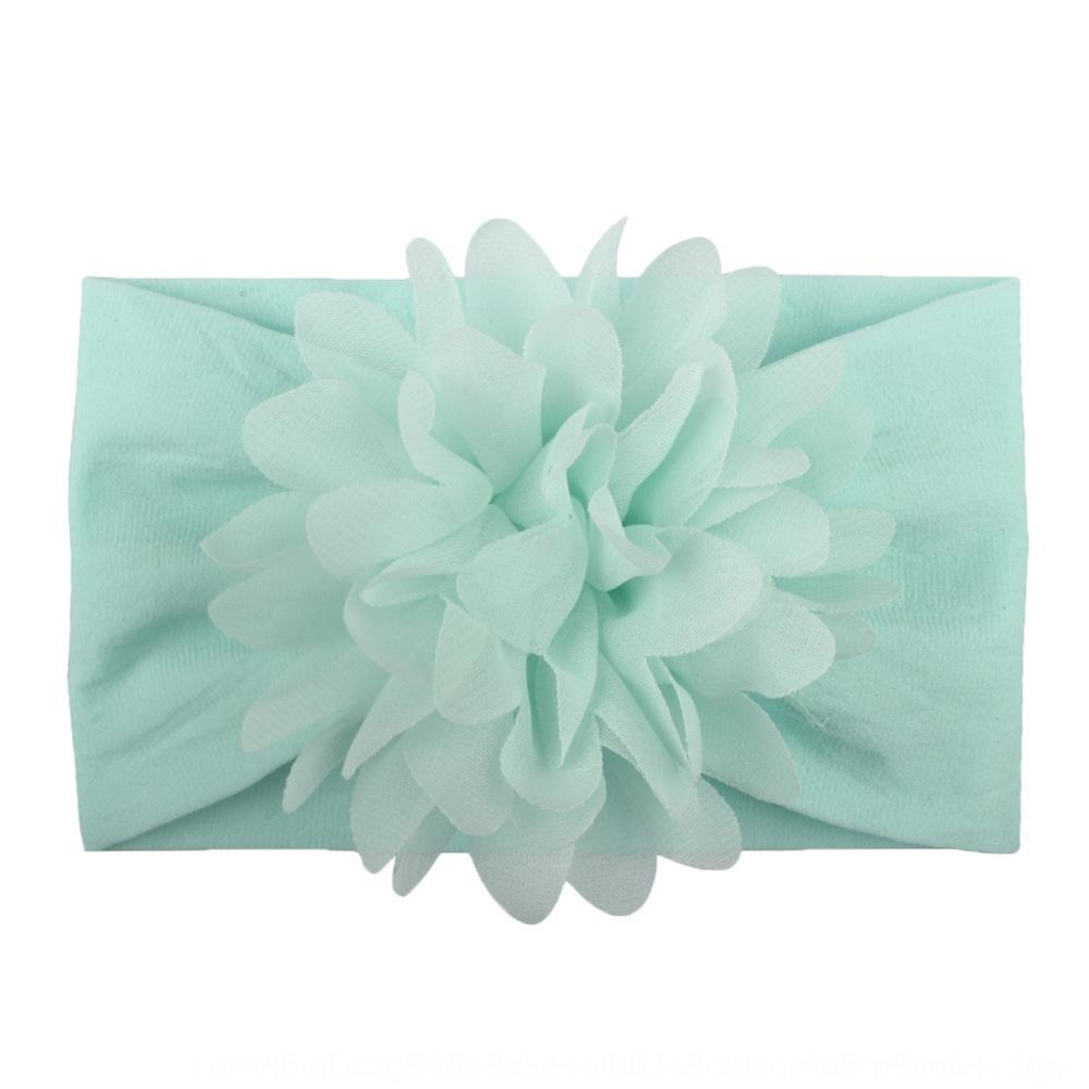 Nouvelle vente chaude super doux bijoux en nylon bébé créatif écharpe fleur mousseline de soie accessoires mignons bande de cheveux de bande princesse cheveux écharpe