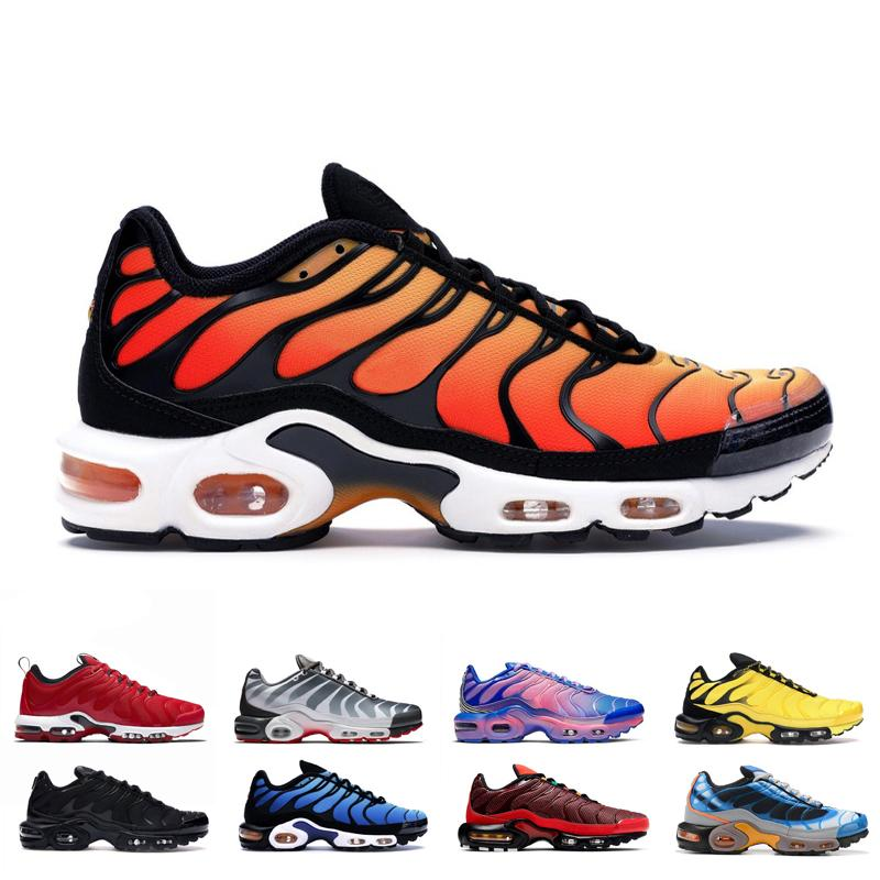 Discount TN plus SE running shoes for Mens Habanero Red Total Orange triple black men newest sports sneaker trainers