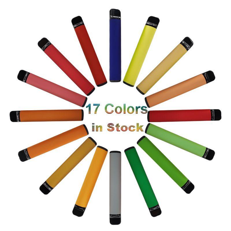 New 3,2ml Pods descartável Vape Pen dispositivo Cartuchos Kits Esvaziar vaporizador 550mAh Bateria 17 cores OEM Embalagem 5% descartáveis E-cigarros