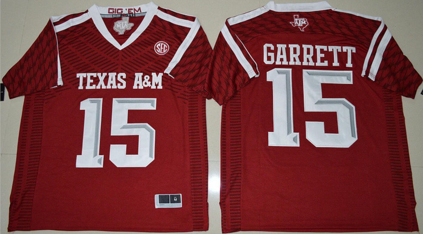AM Aggies 15 Myles Garrett Jersey 2 Johnny Manziel Jerseys Red Black White Men NCAA Football Jerseys 2019 College Jerseys 2020
