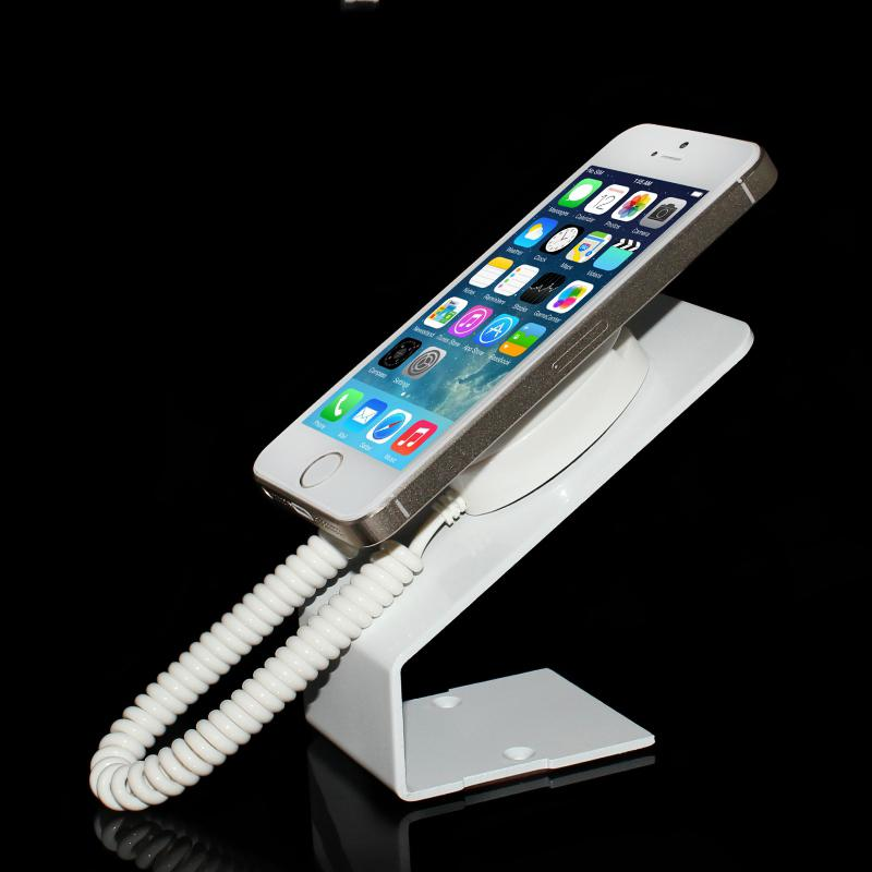 10 pcs/Lot mobile retractable anti theft stand cell phone security display holder with adhesive sticker