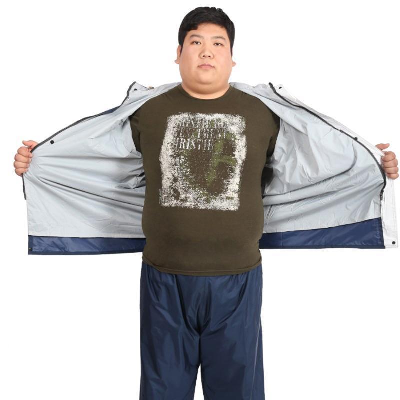 Erkek Kapşonlu Artı boyutu Yağmurluk Vetements Seyahat Coat Dişli Geçirimsiz Takım Elbise Kapak pantolon Yağmur Panço gabardina Mujer Cape 60YY062