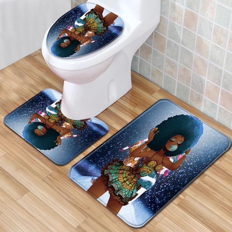 sol salle de bain des femmes 110African tapis trois pièces tapis de toilette tapis de toilette ensemble paillasson de salle de bain tapis antidérapant disponible