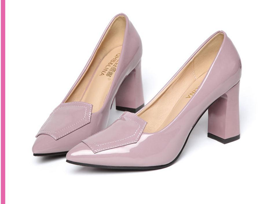 2020 весной и осенью с обувью Новый стиль моды Высокий каблук Грубый пятки заостренный конец женщин в @ MQWBH802