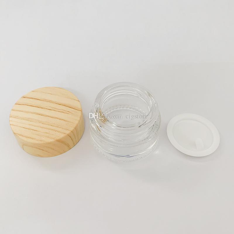 Atacado parafuso tampão superior 5ml garrafa de vidro concentrado frasco para shatter cera crumble hash óleo rosin bodbler água bong