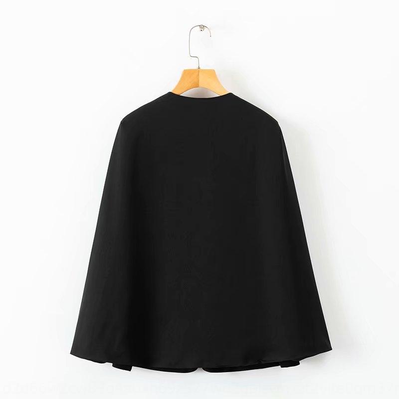 All'inizio nuovo stile di autunno di colore scialle solido giacca capo dello scialle del rivestimento delle donne del femminile nH6Bs
