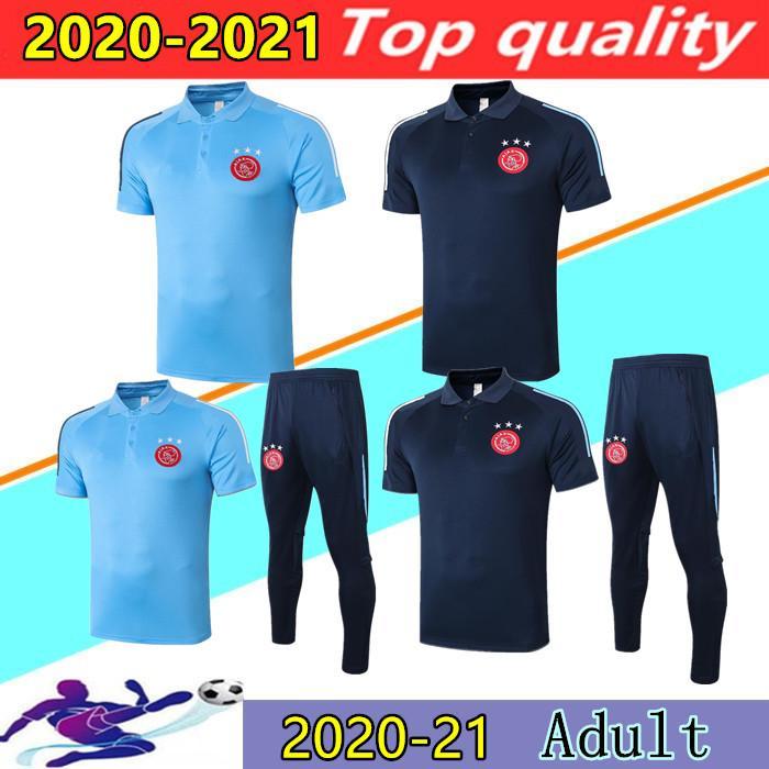 2020 2021 AFC Ajax Soccer Jersey Polos 20/21 Ajax TADIC PROMES ZIYECH manches courtes Maillots de foot ensembles de costume de formation à court de-2XL