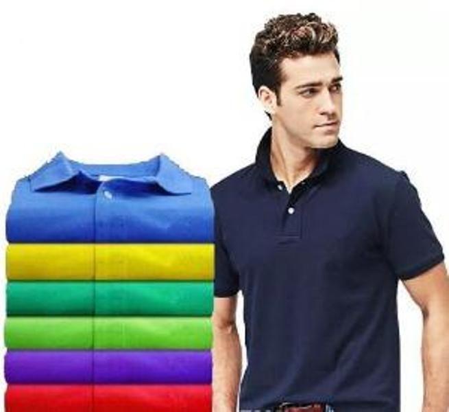 2020 Meilleures ventes Nouveau crocodile Polo manches courtes hommes Chemises Solid t-shirt classique Man Plus Camisa Polo