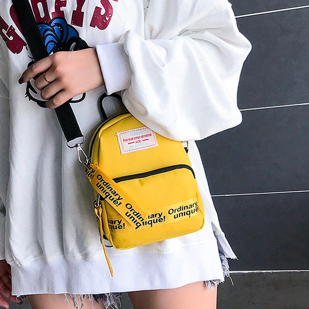 Bag di modo delle signore semplici Streamers Shoulder Bag Trendy semplice Mini Messenger Bag Canvas Tempo libero Crossbody P
