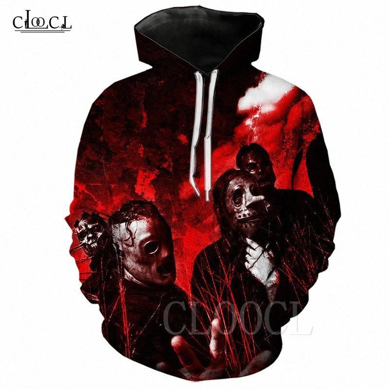 Wear Outono Inverno New homens Hoodies Slipknot Heavy Metal banda mulheres homens camisola com capuz Casual jaqueta preta com capuz 3D Imprimir Tops 9vAZ #