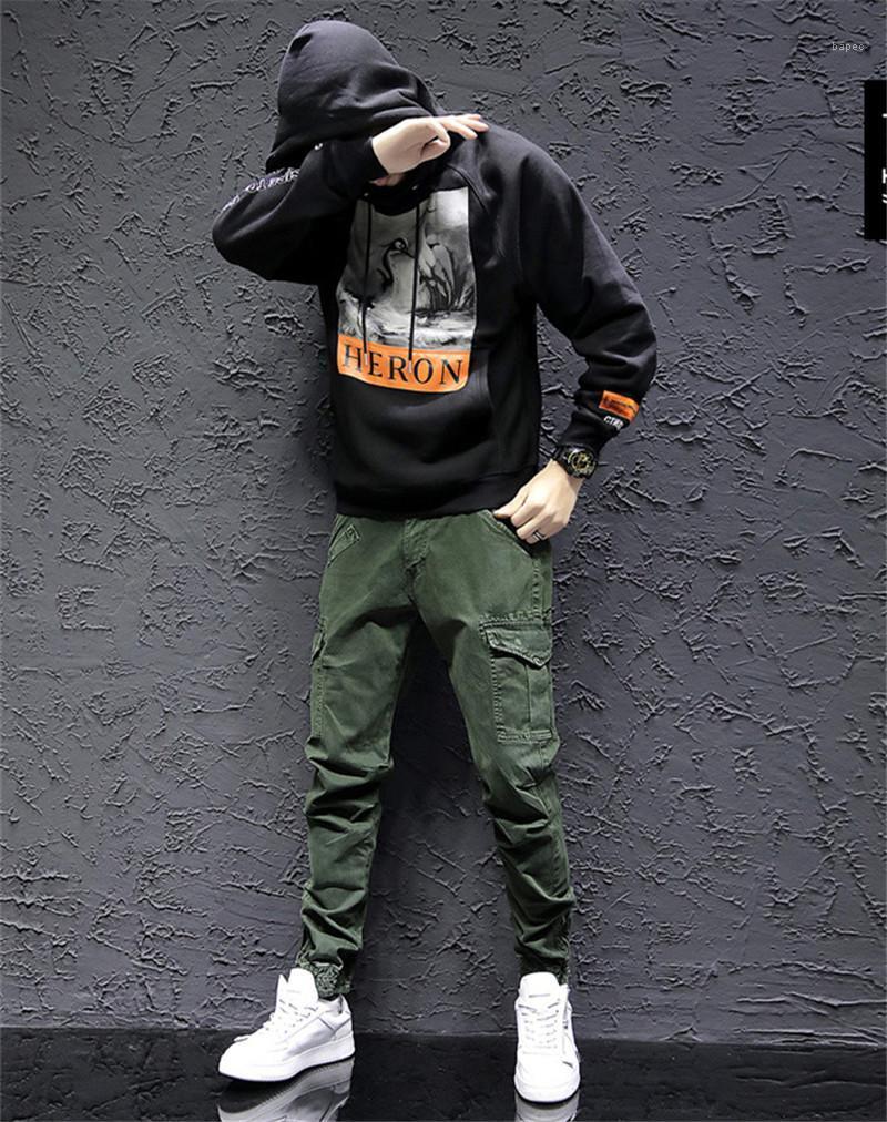 Hosen Designer Hip Hop Skateboard Leggings Herren Cargo Pants Fest Farbe mehr Taschen Sommer High Street-Mode-Männer