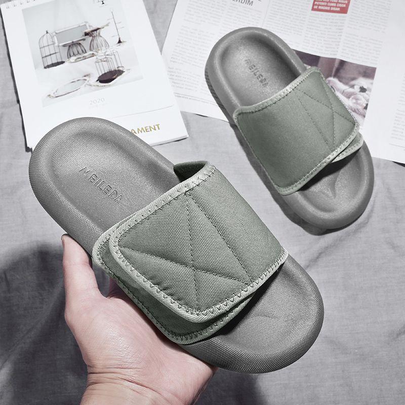 Foam Runner Kanye West Designer Slippers Leinwand Flip Flops GRAY Black Resin Slides Sandalen Männer Frauen Mode Loafers Slipper Größe 36-45
